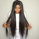 povoljno Perike s ljudskom kosom-Ljudska kosa Lace Front Perika Kardashian stil Brazilska kosa Ravan kroj Priroda Crna Perika 8-30 inch s dječjom kosom Prirodna linija za kosu Afro-američka perika 100% rađeno rukom Žene Kratko