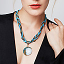 cheap Magnet Toys-Women's Turquoise Pendant Necklace - Bohemian, European, Fashion Red, Green, Blue 42+5 cm Necklace 1pc For Party, Birthday, Gift