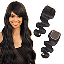 cheap Wedding Umbrellas-Febay 4x4 Closure Body Wave Free Part / Middle Part / 3 Part Swiss Lace Remy Human Hair Daily