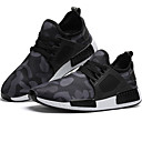 cheap Men's Athletic Shoes-Men's Light Soles Tulle Spring / Summer / Fall Comfort Athletic Shoes Running Shoes Black / Army Green