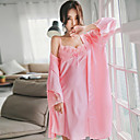 cheap Wedding Shoes-Women's V Neck Suits Robes Pajamas Solid Colored