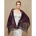 cheap Dance Accessories-Lace Wedding / Party / Evening Women's Wrap With Lace / Tassel Shawls