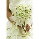 """baratos Bouquets de Noiva-Bouquets de Noiva Buquês Casamento Organza Cetim 12.2""""(Aprox.31cm)"""