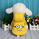 cheap Dog Collars, Harnesses & Leashes-Dog Sweatshirt Dog Clothes Cartoon Purple Yellow Red Blue Fleece Cotton Costume For Pets Casual/Daily