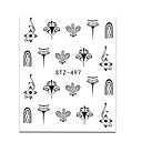 cheap Other Nail Tools-20pcs set hot fashion nail art water transfer decals gorgeous jewelry necklace lovely cat beautiful flower butterfly design diy decoration stz497 500