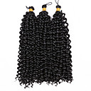 cheap Hair Braids-Braiding Hair Curly / Water Wave Curly Braids 100% kanekalon hair 3 Pieces Hair Braids Mid Length Ombre Braiding Hair