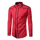 billige Syntetiske parykker uten hette-Opprett krage Skjorte Herre - Ensfarget Aktiv