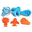 cheap Cake Molds-2017 New Arrival Set of 3 Airplane Symbols Cake Molds Sky Sun Cloud Cookie/Biscuit Cutter for Fondant Cake Decorating