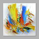 baratos Pinturas Abstratas-Pintura a Óleo Pintados à mão - Floral / Botânico Abstracto / Moderno / Contemporâneo Incluir moldura interna / Lona esticada
