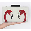 cheap Clutches & Evening Bags-Women's Bags leatherette / PC Evening Bag Pattern / Print White