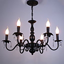 cheap Chandeliers-6-Light Chandelier Ambient Light - Crystal, Candle Style, 110-120V / 220-240V Bulb Not Included / 10-15㎡ / E12 / E14