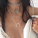 preiswerte Körperschmuck-Damen Geometrisch Layered Ketten - Blume Bikini, Modisch, Euramerican Silber Modische Halsketten Für Party