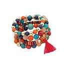 cheap Necklaces-Women's Tassel Charm Bracelet - Vintage, Bohemian, Natural Bracelet White / Black / Rainbow For Party / Birthday / Party / Evening