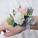 """رخيصةأون أزهار الزفاف-زهور الزفاف باقة ورد في رسغ زفاف البوليستر 3.94""""(Approx.10cm)"""