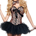 cheap Historical & Vintage Costumes-Ringmaster Cosplay Costume / Party Costume Women's Christmas / Halloween / Carnival Festival / Holiday Halloween Costumes Brown Leopard