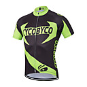 cheap Wall Stickers-Men's Short Sleeve Cycling Jersey - Black / Green Floral / Botanical Bike Jersey, Quick Dry Polyester, Coolmax®, Lycra