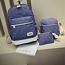 cheap Bag Sets-Women's Bags Canvas Backpack 3 Pcs Purse Set for Casual All Seasons Blue Green Red