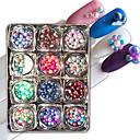 cheap Rhinestone & Decorations-12 pcs Decorating Tool Persona Beads Collection / Fashion Cute / Multi-shade / Candy Daily Nail Art Tool / Nail Art Design