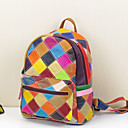 cheap Pendant Lights-Women's Bags Cowhide Backpack for Casual Rainbow