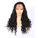 cheap Human Hair Wigs-Human Hair Wig Brazilian Hair 360 Frontal Water Wave Wig 180% Density with Baby Hair Natural Hairline African American Wig 100% Hand Tied Pre-Plucked Women's Short Medium Length Long Human Hair Lace
