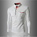 cheap Body Jewelry-Men's Daily / Work / Weekend Cotton / Others Polo - Solid Colored Shirt Collar / Long Sleeve