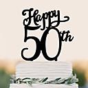 economico Decorazioni per torte nuziali-Decorazioni torte Compleanno Matrimonio Alta qualità Plastica Matrimonio Compleanno con 1 Bustina PVC
