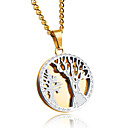 cheap Bracelets-Men's Pendant Necklace - Titanium Steel Statement Gold, White Necklace For Party, Birthday, Party / Evening
