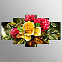 abordables Testeurs & Détecteurs-Impression sur Toile Abstrait, Cinq Panneaux Toile Format Horizontal Imprimé Décoration murale Décoration d'intérieur