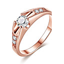 cheap Earrings-Women's AAA Cubic Zirconia Ring Engagement Ring - Rose Gold, Cubic Zirconia Classic, Elegant 6 / 7 / 8 / 9 Rose Gold For Wedding Anniversary Party Evening
