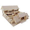 cheap Models & Model Kits-3D Puzzle Jigsaw Puzzle Wood Model Model Building Kit Famous buildings Chinese Architecture Simulation DIY Wooden Wood Classic Chinese