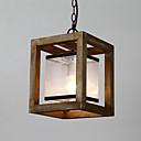 billige Baderomskraner-Geometrisk Anheng Lys Nedlys Malte Finishes Tre / Bambus Glass Mini Stil 110-120V / 220-240V Pære ikke Inkludert / E26 / E27