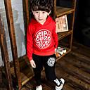 preiswerte Jacken & Mäntel für Jungen-Jungen Kleidungs Set Baumwolle Frühling Herbst Langarm Weiß Schwarz Rote
