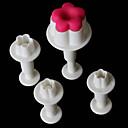 halpa Leivontavälineet-Bakeware-työkalut Muovit Leivonta Tool / Creative Kitchen Gadget / Christmas Kakku / for Cake Leivontatarvikkeet 4kpl