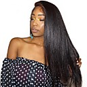 cheap Human Hair Wigs-Human Hair Glueless Lace Front Lace Front Wig Side Part style Brazilian Hair kinky Straight Wig 250% Density with Baby Hair Natural Hairline African American Wig 100% Hand Tied Pre-Plucked Women's