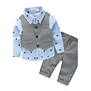 cheap Baby Boys' Clothing Sets-Boys' Galaxy Clothing Set, Cotton Polyester Spring Fall Blue Light Green