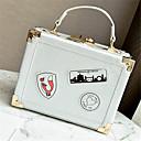 رخيصةأون حقائب الكتف-للمرأة أكياس PU حقيبة كروس إلى فضفاض كل الفصول أبيض أسود فضي أحمر