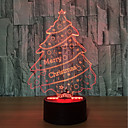 abordables Lámparas de Noche-1 juego Luz nocturna 3D USB Sensor tactil / Color variable Artístico / LED