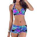 cheap Smartwatch Accessories-Women's Halter Tankini Print