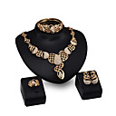 cheap Jewelry Sets-Women's Jewelry Set - Rhinestone, Gold Plated Personalized, Fashion Include Stud Earrings / Pendant Necklace / Bracelet Gold For Daily / Evening Party / Date