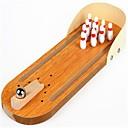 رخيصةأون لعبة بولينغ-مخفف الضغط متعددة الوظائف لهو مريح الخشب الطبيعي للجنسين للأطفال هدية
