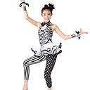 abordables Ropa de Jazz-Jazz Unitardos Mujer Rendimiento Poliéster / Licra Diseño / Estampado / Volantes / Lunares Sin Mangas Cintura Media Leotardo / Pijama Mono / Para la Cabeza / Neckwear