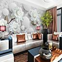 preiswerte Fensterfolie & Aufkleber-3D Blume Klassisch Haus Dekoration Pastoralen Stil Modern/Zeitgenössisch Wandverkleidung, Segeltuch Stoff Klebstoff erforderlich