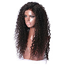 billige Bageredskaber-Menneskehår Helblonde / Blonde Front Paryk Brasiliansk hår Lige / Krøllet Paryk 130% nyt / Natural Hairline Dame Kort / Medium / Lang Blondeparykker af menneskehår / Ret