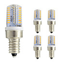 cheap LED Bulbs-5pcs 3W 260lm E12 LED Corn Lights T 64 LED Beads SMD 3014 Warm White Cold White 220-240V