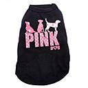 ieftine Îmbrăcăminte Câini-Pisici Câine Tricou Îmbrăcăminte Câini Literă & Număr Negru Bumbac Costume Pentru animale de companie Bărbați Pentru femei Modă