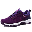 cheap Men's Sneakers-Women's Shoes PU(Polyurethane) Spring / Fall Comfort / Light Soles Athletic Shoes Hiking Shoes Flat Heel Round Toe Lace-up Black / Purple