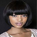 cheap Historical & Vintage Costumes-Synthetic Wig Straight Style Bob Capless Wig Black Natural Black Synthetic Hair Women's Black Wig Medium Length MAYSU Natural Wigs