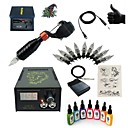 cheap Starter Tattoo Kits-BaseKey Tattoo Machine Starter Kit - 1 pcs Tattoo Machines with 7 x 15 ml tattoo inks, Professional LCD power supply Case Not Included 1
