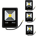 cheap Memory Cards-4pcs 10W LED Floodlight Lawn Lights Waterproof Decorative Outdoor Lighting Warm White Cold White 85-265V