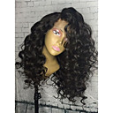 cheap Human Hair Wigs-Remy Human Hair Glueless Lace Front / Lace Front Wig Curly Wig 150% / 180% Natural Hairline / African American Wig / 100% Hand Tied Women's Medium Length / Long Human Hair Lace Wig